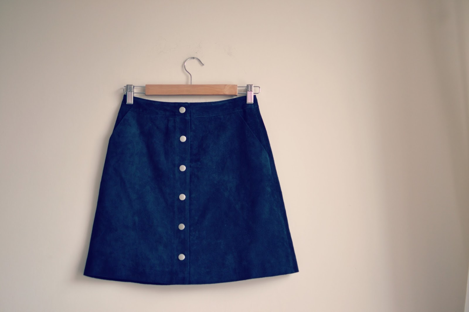 Warehouse suede skirt