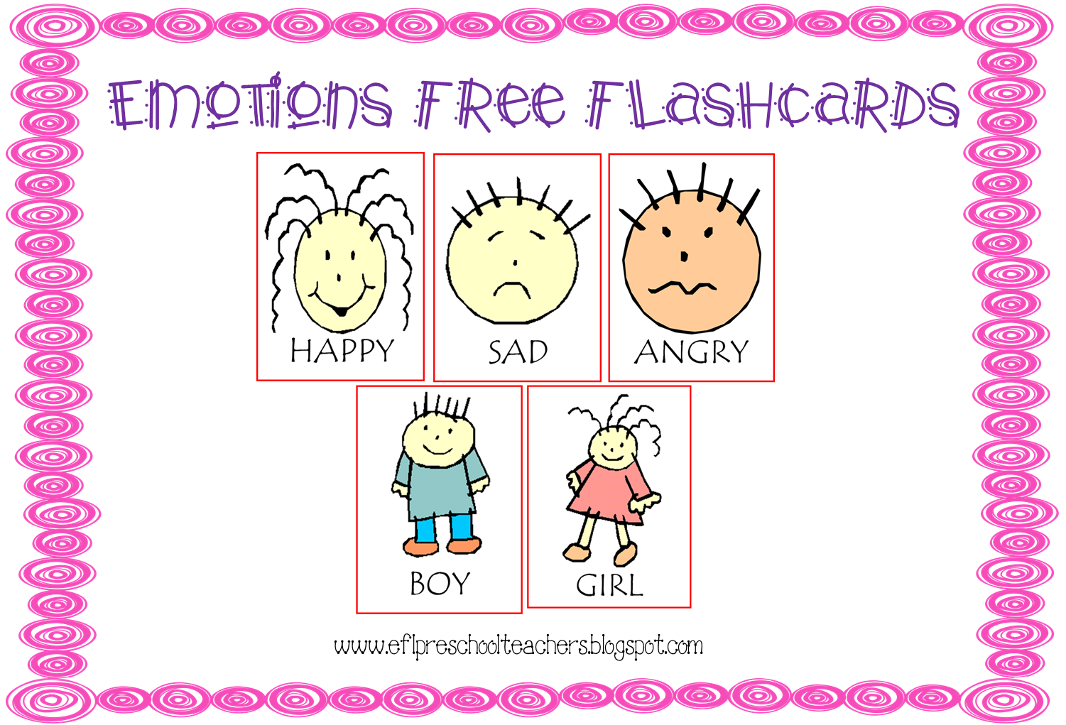 Esl Efl Preschool Teachers Feelings Emotions Theme