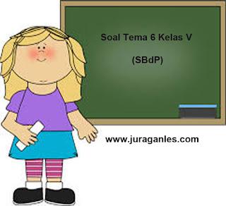 Soal Tematik Kelas 5 Tema 6 Mapel SBdP dan Kunci Jawaban