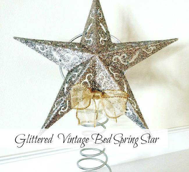 Glittered Dollar Store Spring Stars www.homeroad.net