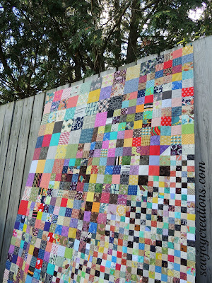 four patch work on back fence pattern by temecula quilt co