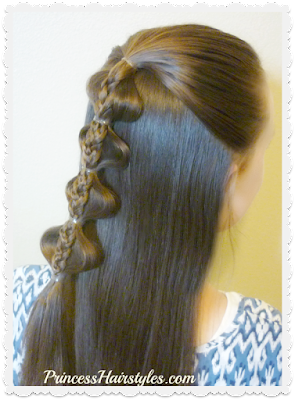 Palm tree bubble braid video tutorial.