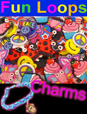 12 Pack of Charms For Rubberband Loom Bracelets Vendor
