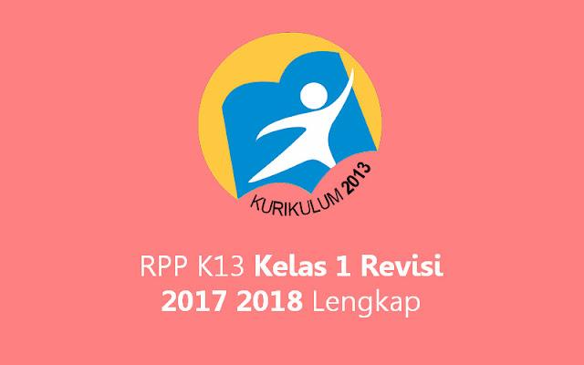 RPP K13 Kelas 1 Revisi Baru