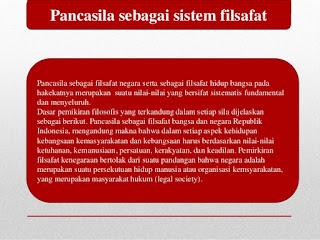 Pengertian Pancasila Sebagai Sistem Filsafat Negara Indonesia