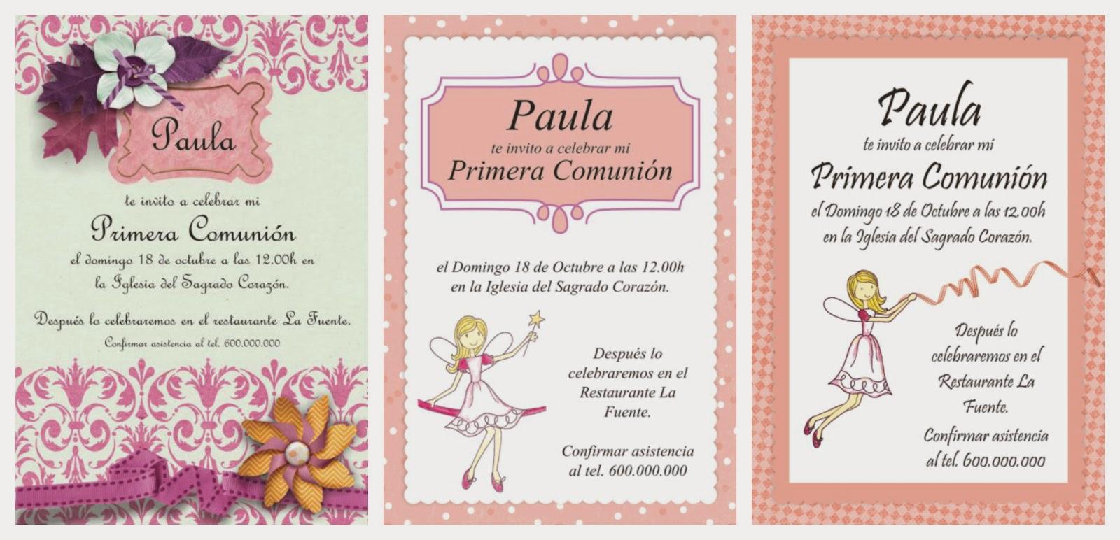 Partty fiestas tem ticas y decoraci n para fiestas - Como hacer tarjetas de comunion ...