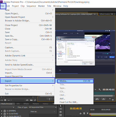 Cara Render Video di Adobe Premier Pro Terbaru