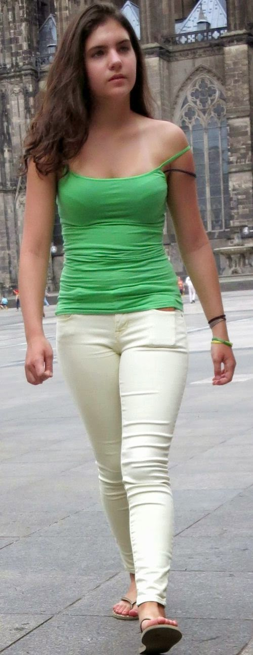 Sexy Girls On The Street, Girls In Jeans, Spandex And -9502