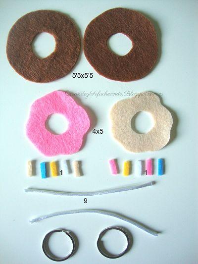 Piezas para el mini donuts de fietltro