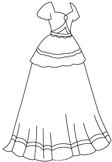 Cara Cepat Sketsa Gaun Sang Putri
