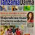 HAYA HAPA MAGAZETI YA LEO ALHAMIS MACHI MOSI,2018 -NDANI NA NJE YA TANZANIA