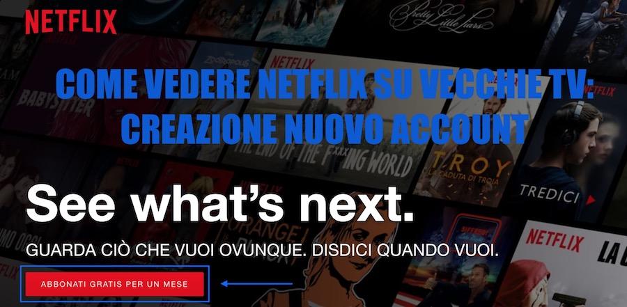 come creare nuovo account netflix