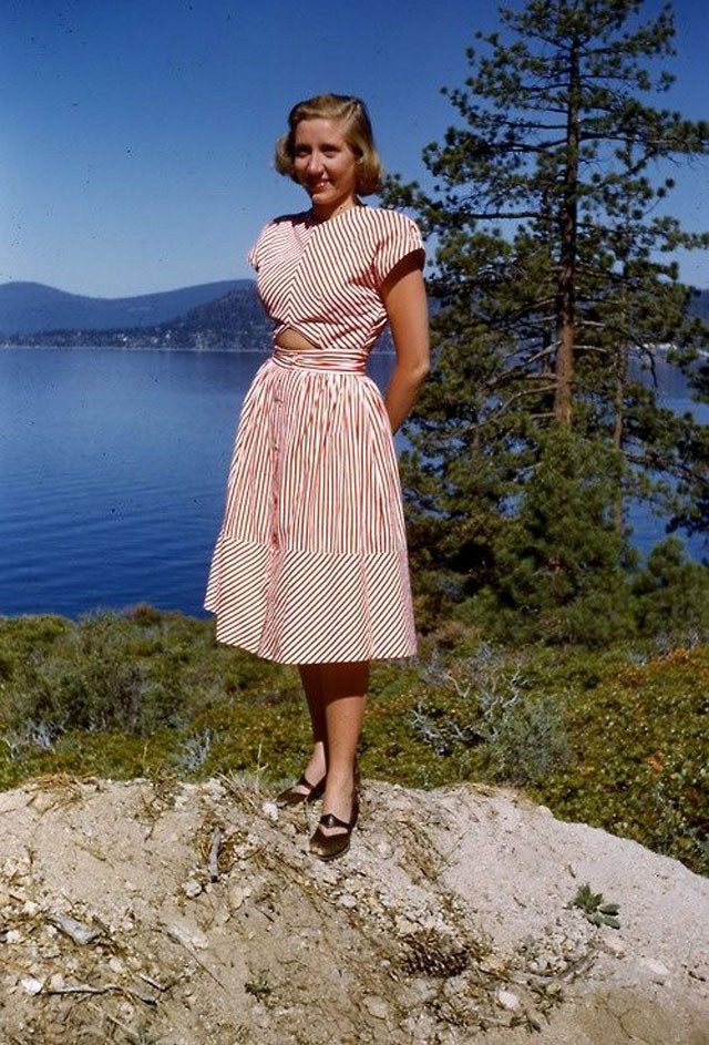 1940 S Fashion Young Woman S Wardrobe Plan: 33 Color Photos Show Dresses That '40s Young Women Often