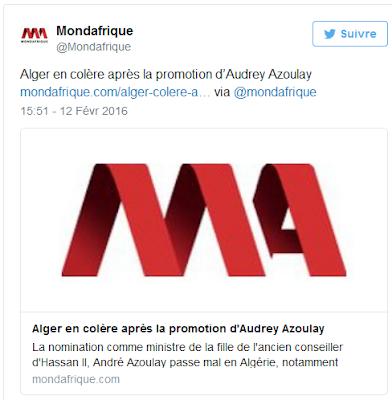 http://www.mondafrique.com/alger-colere-apres-promotion-daudrey-azoulay/