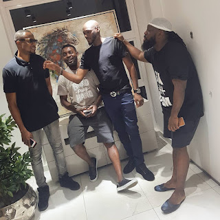 2Face Idibia Spotted Holding Weed As He Hangs With Timaya And AY The Comedian