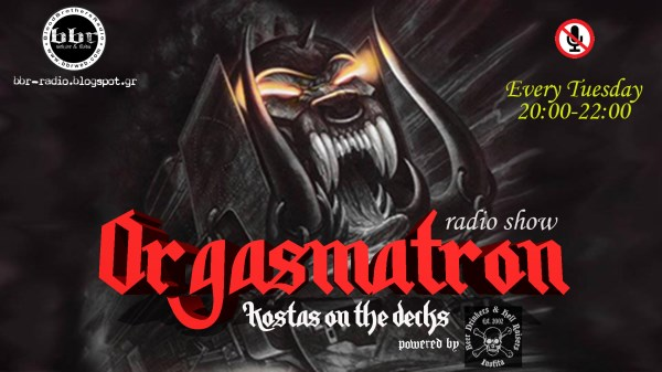 'Orgasmatron': Τρίτη 29 Μαρτίου στις 20:00! Tune in!