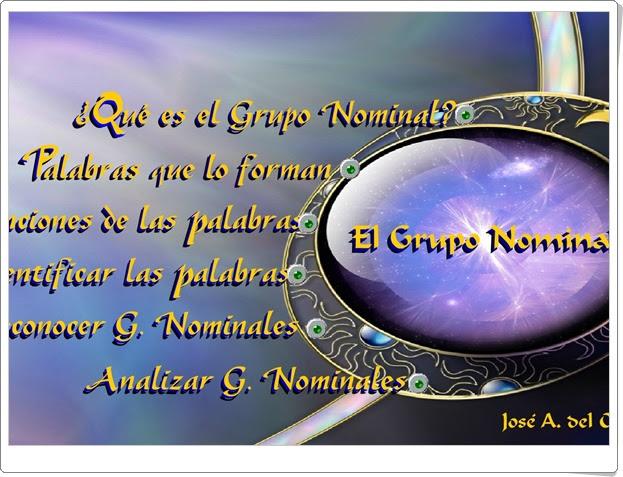"""""""El grupo nominal"""" (Lengua Española de Primaria)"""