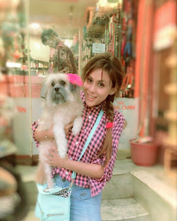 Reeth Mazumder and Her Pet