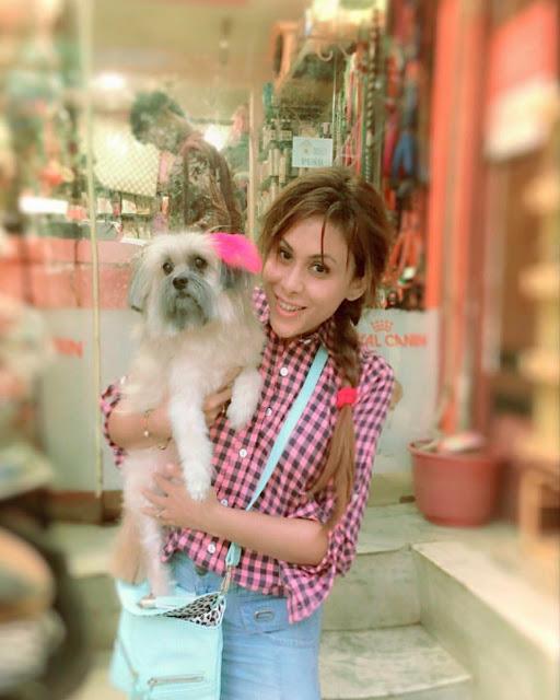 Reeth Mazumder and Her Pet