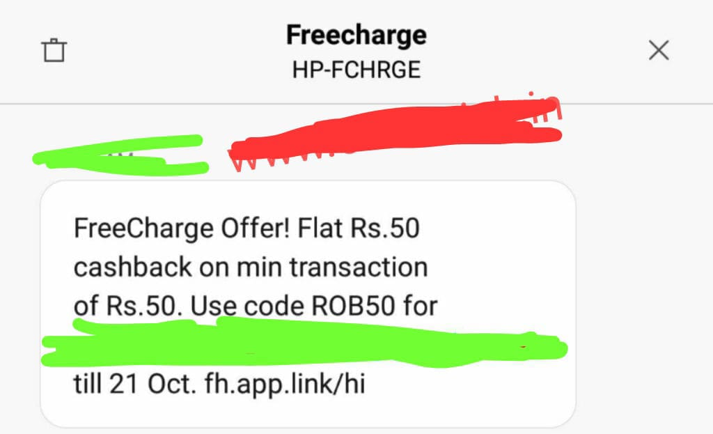 FreeCharge App Offer Get Free Recharge Rs 50 Bast Offer - Official Idea