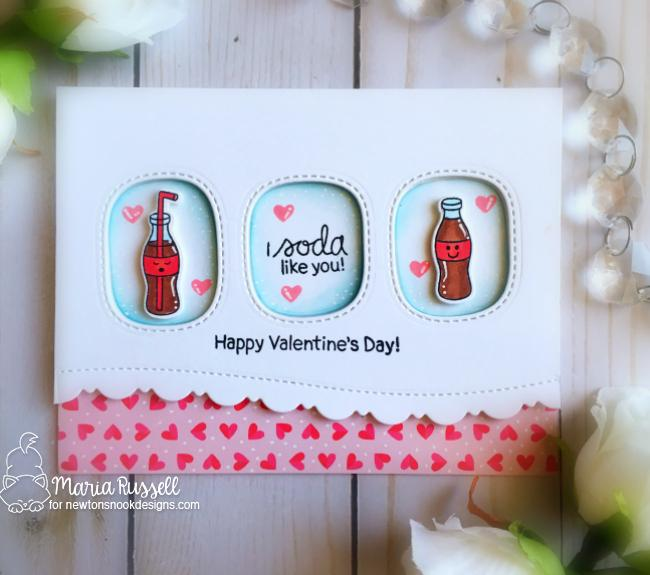 Soda pop Valentine Card by Maria Russell | Love Bites Stamp Set by Newton's Nook Designs #newtonsnook #handmade