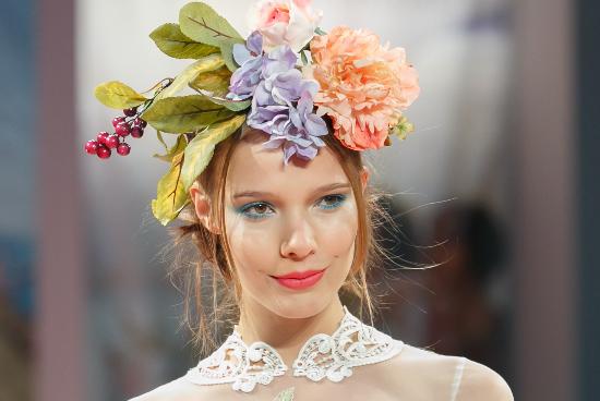 Claire Pettibone, fall winter 2013/2014, floral crowns, coroncine di fiori