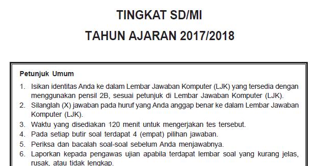 Kumpulan Soal USBN Bahasa Indonesia SD Tahun 2018 Plus ...