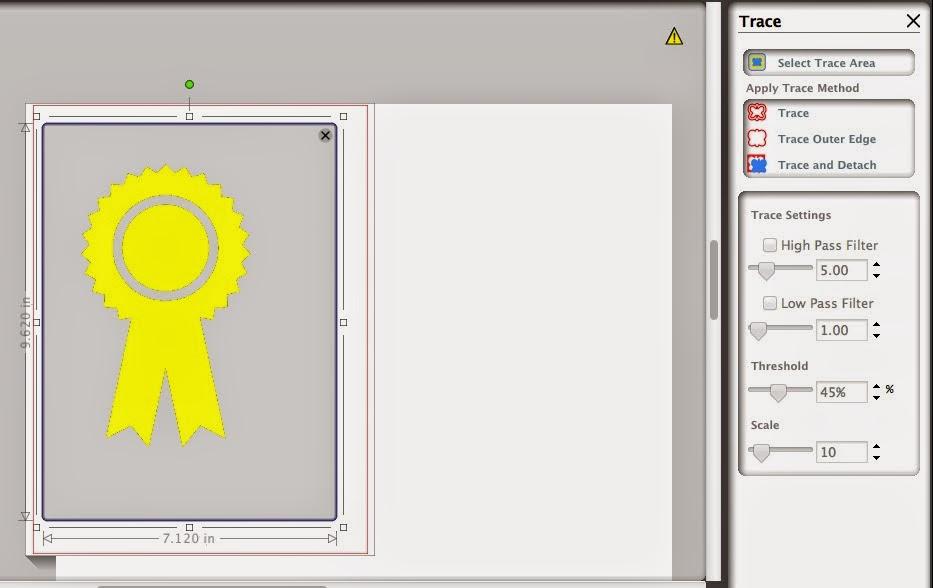 Silhouette, trace, double line, fix, Silhouette Studio, ribbon