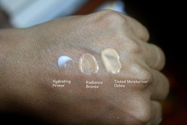 Lightweight Bases From Laura Mercier | Foundation Primers in Radiance Bronze, Hydrating and Tinted Moisturizer SPF20 in Ochre