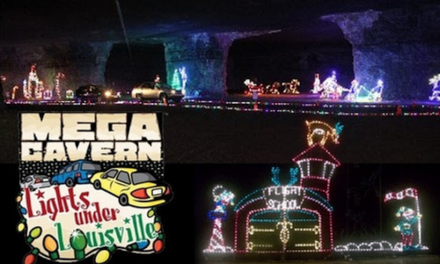 light displasy in the mega cavern saying lights under louisville