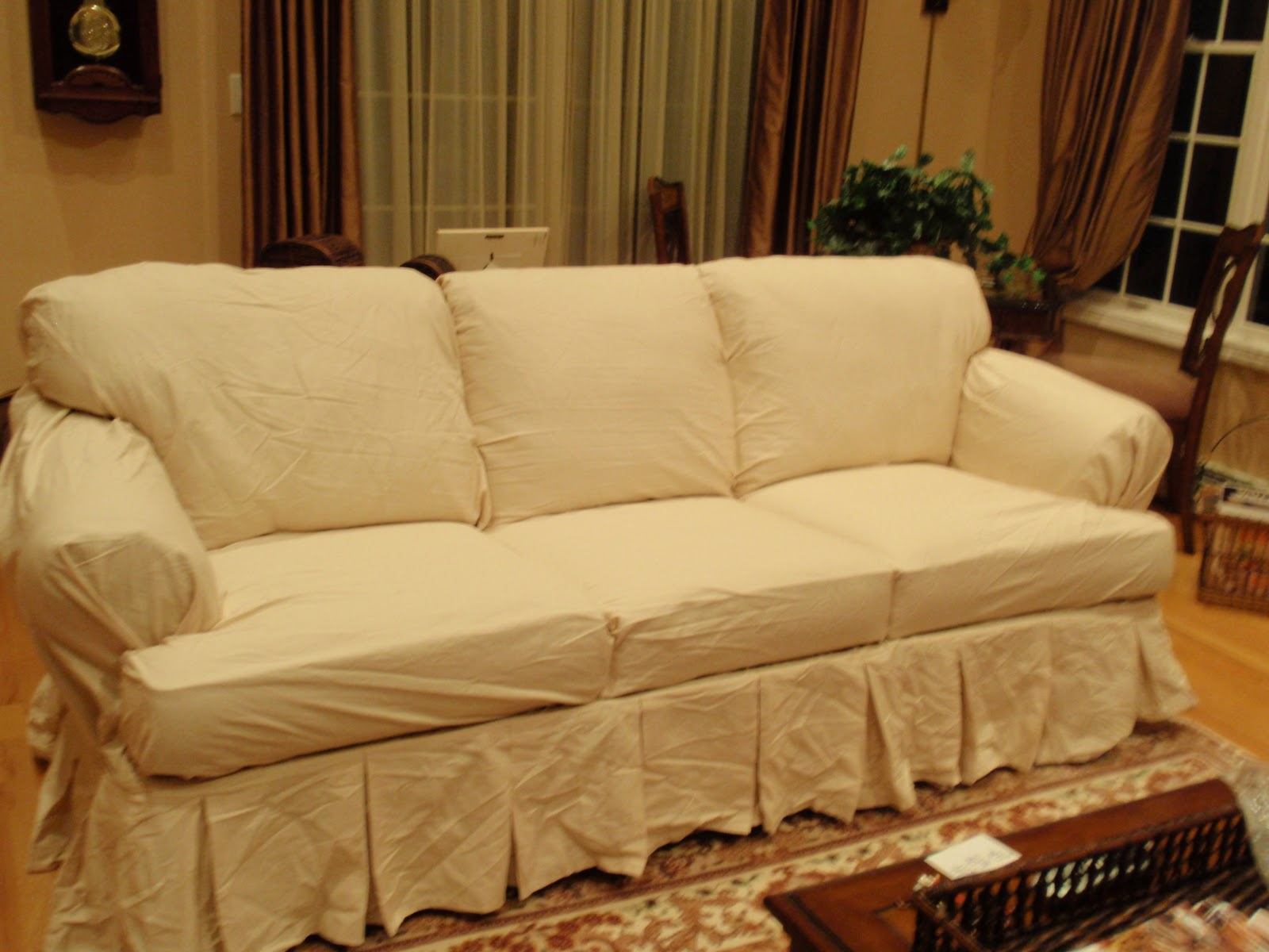 diy by design ugly sofa slipcover giveaway. Black Bedroom Furniture Sets. Home Design Ideas