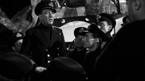 Noel Coward addresses the ship's crew in In Which We Serve