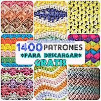 1400 patrones de puntos crochet
