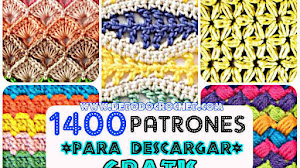 Libro de Tejido con 1400 Patrones
