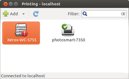 Various Thoughts: Install Xerox workcentre 5755 in ubuntu 12 04 lts