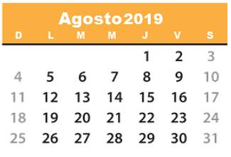 Calendario De Agosto 2019 Para Imprimir.Calendario 2019 Para Descargar Imprimir Y Tener Contigo