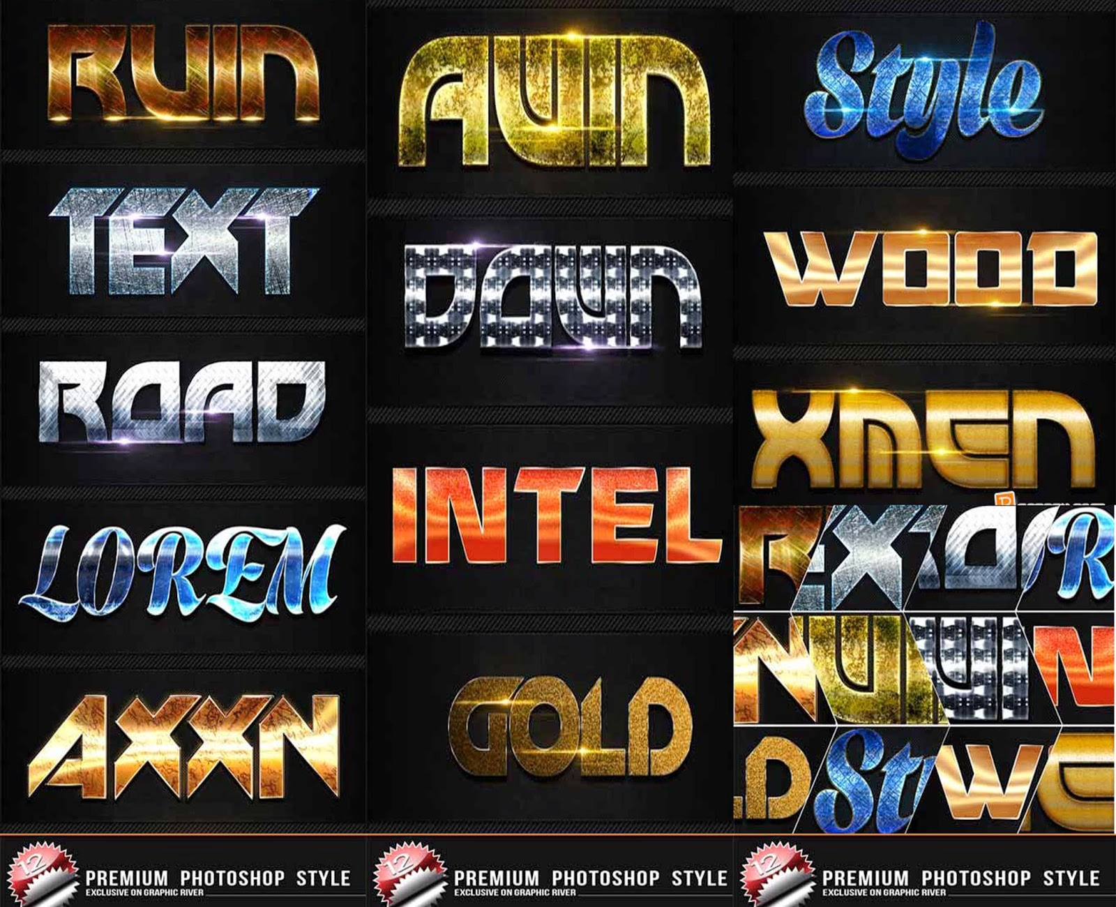 12 Premium Text Effect PSD  2015
