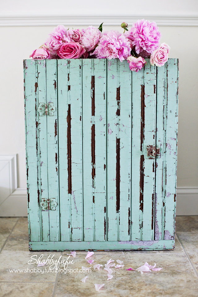 vintage beadboard cabinet