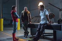 Tom Holland, Michael Keaton, Jon Watts on the set of Spider-Man: Homecoming (41)