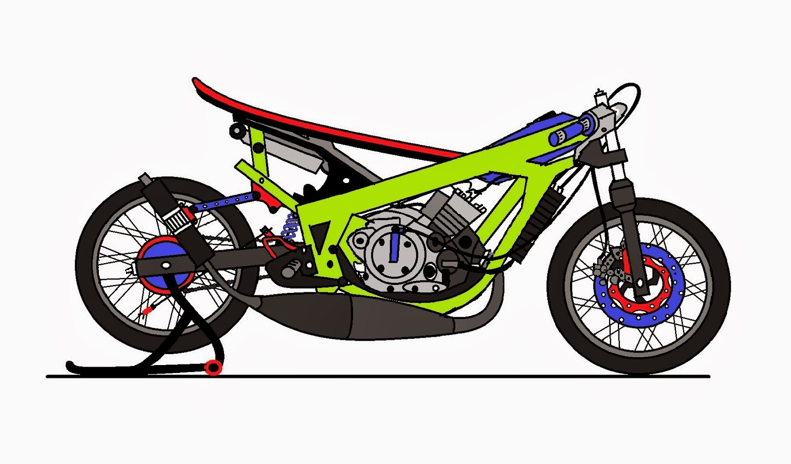 99 Gambar Motor Drag Cartoon Terkeren Ranting Modifikasi