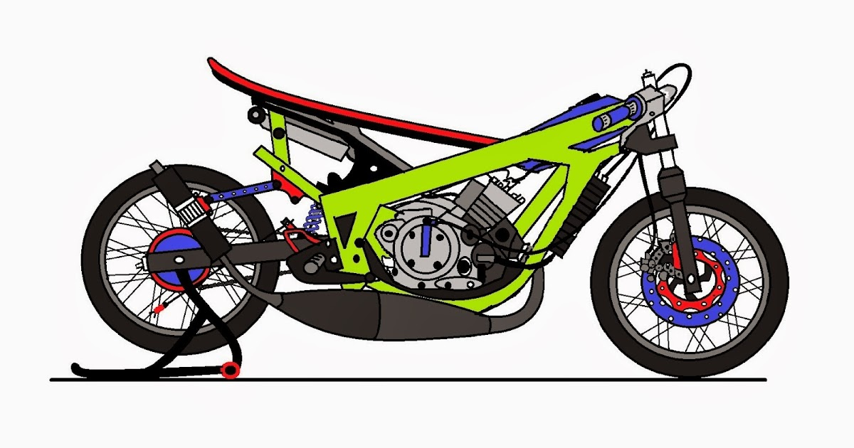 35 Gambar Kartun Motor Drag Ninja Inspirasi Terbaru