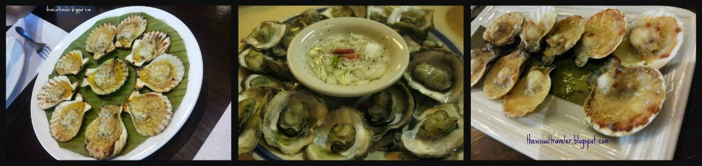 Different Types of Baked shellfish dishes