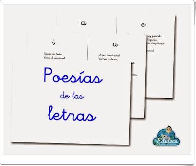"""""""Poesías de las letras"""" (Cuadernillo de lectoescritura y ortografía de Primaria)"""