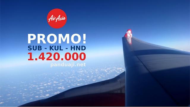 Dapat promo air asia Surabaya - KL - Haneda 1,4 jutaan