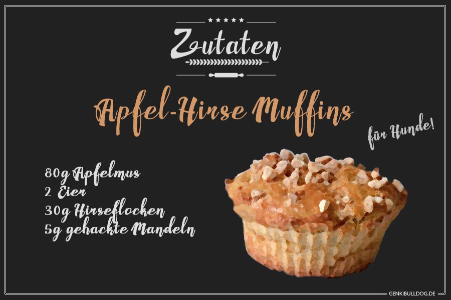 DIY Rezept: Apfel-Hirse Muffins für Hunde selbst backen