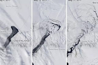 Petermann glacier, glacier, iceberg, Greenland ice sheet