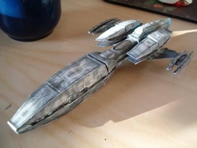 Star Trek Andorian Battle Cruiser Paper Model