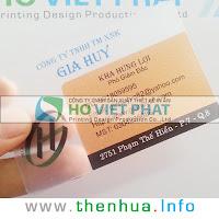 Thẻ Nhân Sự Cao Cấp - Nhựa PVC Trong