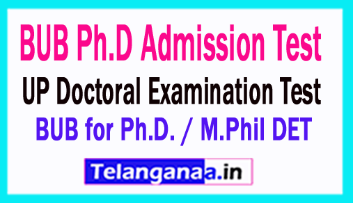 BU Bhopal Entrance Ph.D Hall ticket 2018 UP Doctoral Examination Test