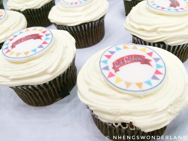 Red Ribbon Cupcakes